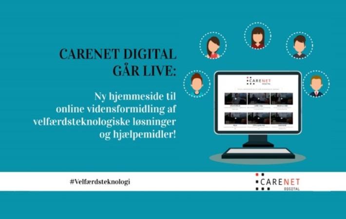 CareNet Digital går live med ny hjemmeside til online vidensformidling