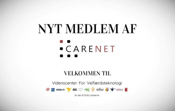 Videnscenter for Velfærdsteknologi / Østdanmark, SOSU H er nyt medlem af CareNet