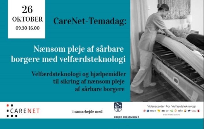 CareNet-Temadag: Nænsom pleje af sårbare borgere med velfærdsteknologi