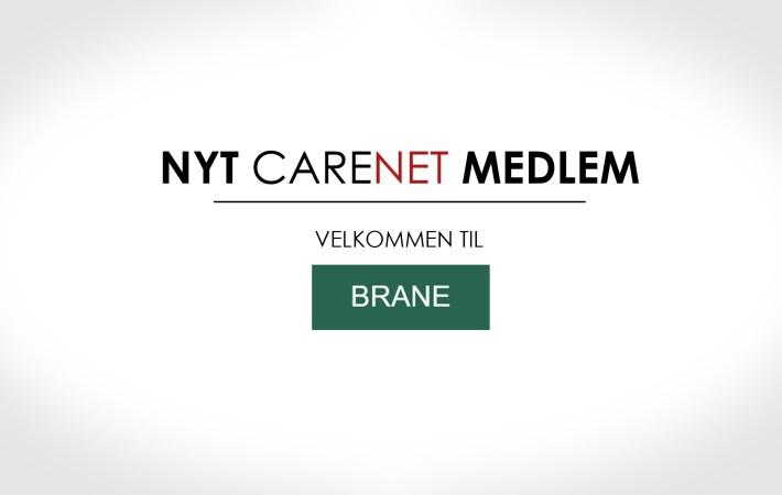 BRANE ApS er nyt medlem af CareNet