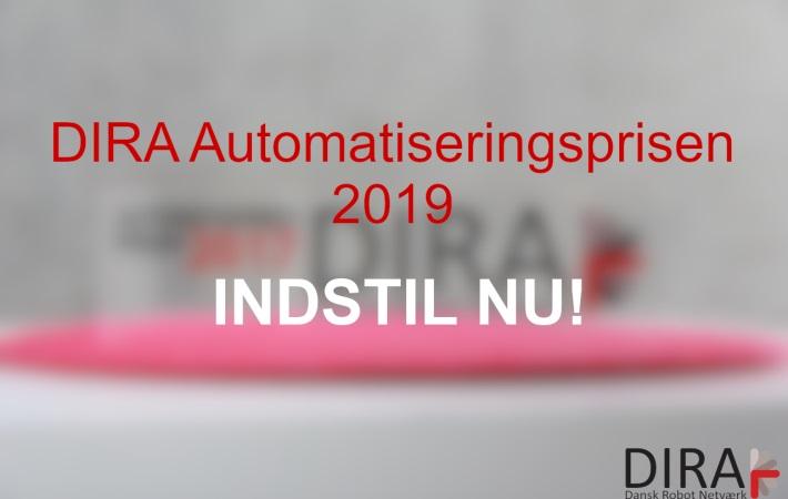 DIRA Automatiseringsprisen 2019: Sidste chance for at indstille kandidater