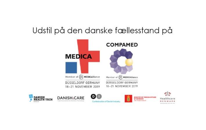 Udstil på den danske fællesstand til Medica/Compamed 2019 i Düsseldorf