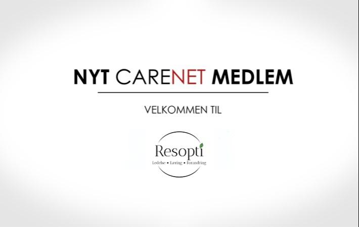 Resopti er nyt medlem af CareNet