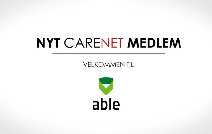 able nordic A/S er nyt medlem af CareNet