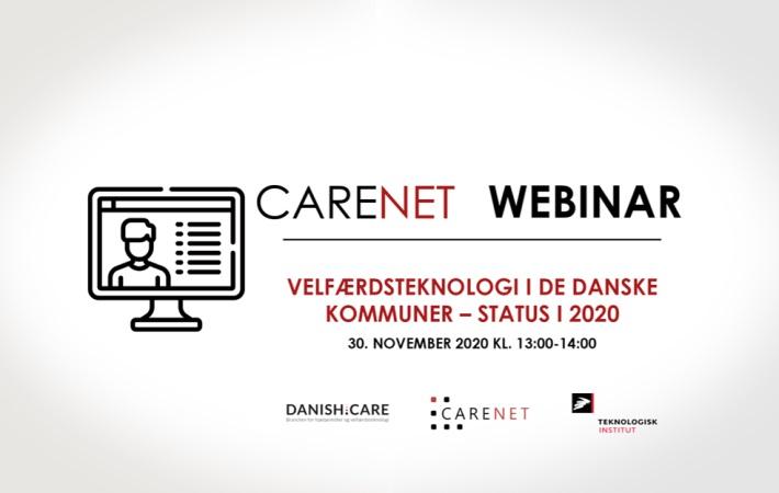 Velfærdsteknologi i de danske kommuner – status i 2020: CareNet afholder webinar